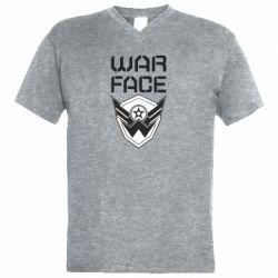 Чоловіча футболка з V-подібним вирізом Напис Warface