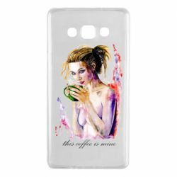 Чехол для Samsung A7 2015 Naked girl with coffee
