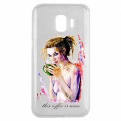 Чехол для Samsung J2 2018 Naked girl with coffee