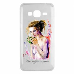 Чехол для Samsung J3 2016 Naked girl with coffee