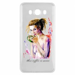 Чехол для Samsung J7 2016 Naked girl with coffee