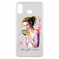 Чехол для Samsung A6s Naked girl with coffee
