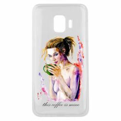 Чехол для Samsung J2 Core Naked girl with coffee