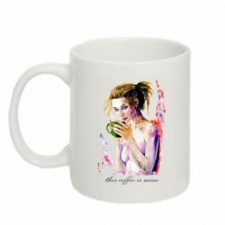 Кружка 320ml Naked girl with coffee