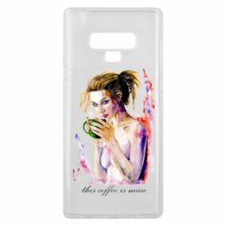 Чехол для Samsung Note 9 Naked girl with coffee