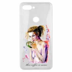 Чехол для Xiaomi Mi8 Lite Naked girl with coffee