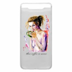Чехол для Samsung A80 Naked girl with coffee