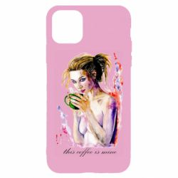 Чехол для iPhone 11 Naked girl with coffee