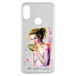 Чехол для Xiaomi Redmi Note 7 Naked girl with coffee