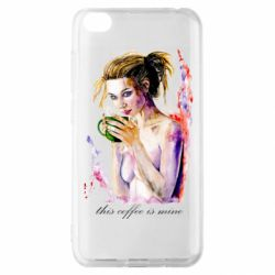 Чехол для Xiaomi Redmi Go Naked girl with coffee