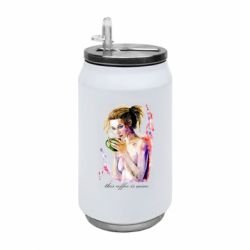 Термобанка 350ml Naked girl with coffee