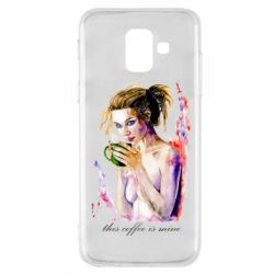 Чехол для Samsung A6 2018 Naked girl with coffee