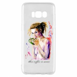 Чехол для Samsung S8 Naked girl with coffee