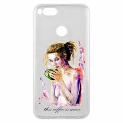 Чехол для Xiaomi Mi A1 Naked girl with coffee