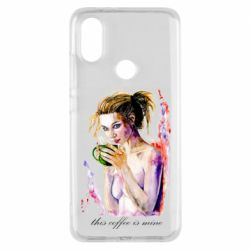 Чехол для Xiaomi Mi A2 Naked girl with coffee