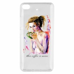 Чехол для Xiaomi Mi 5s Naked girl with coffee