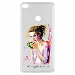 Чехол для Xiaomi Mi Max 2 Naked girl with coffee