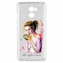 Чехол для Xiaomi Redmi 4 Naked girl with coffee