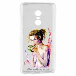 Чехол для Xiaomi Redmi Note 4 Naked girl with coffee