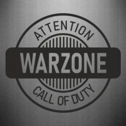 Наклейка Attention Warzone