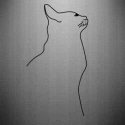 Наклейка Cat line
