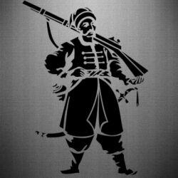 Наклейка Cossack with a gun