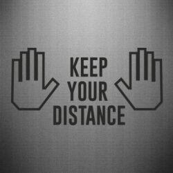Наклейка Keep your distance