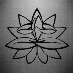 Наклейка Lotus yoga