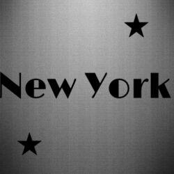 Наклейка New York and stars