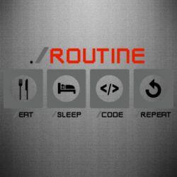 Наклейка Routine code