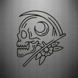 Наклейка Skull with scythe