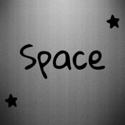 Наклейка Space: Letters and Stars Print