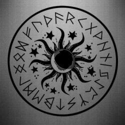 Наклейка Sun in runes