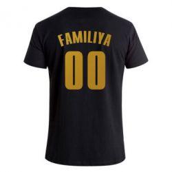 Мужская стрейчевая футболка Name and number (silver and gold)