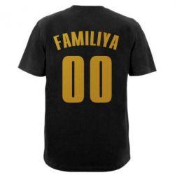 Мужская футболка  с V-образным вырезом Name and number (silver and gold)