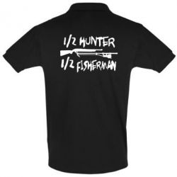 Мужская футболка поло Наполовину охотник, наполовину рыбак