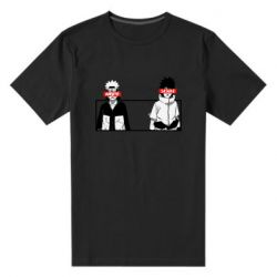 Мужская стрейчевая футболка Naruto and Sasuke