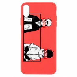 Чехол для iPhone Xs Max Naruto and Sasuke