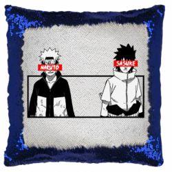 Подушка-хамелеон Naruto and Sasuke