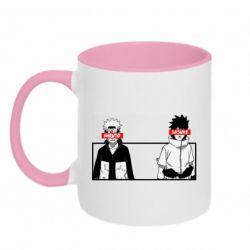 Кружка двухцветная 320ml Naruto and Sasuke