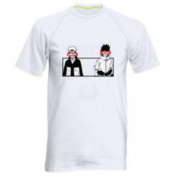 Мужская спортивная футболка Naruto and Sasuke