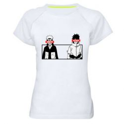 Женская спортивная футболка Naruto and Sasuke
