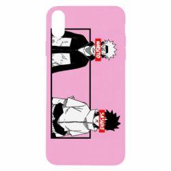 Чехол для iPhone X/Xs Naruto and Sasuke
