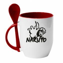 Кружка з керамічною ложкою Naruto Hatake
