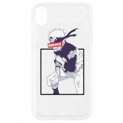 Чехол для iPhone XR Naruto Hokage glitch
