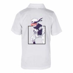 Детская футболка поло Naruto Hokage glitch