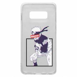 Чехол для Samsung S10e Naruto Hokage glitch