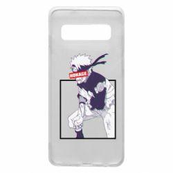 Чехол для Samsung S10 Naruto Hokage glitch
