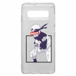 Чехол для Samsung S10+ Naruto Hokage glitch