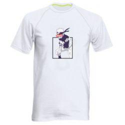Мужская спортивная футболка Naruto Hokage glitch